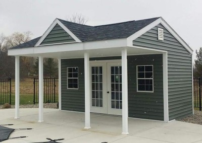carriage house style shed in wny