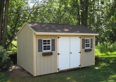 carriage house style shed wny